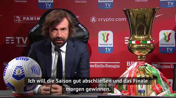 """Vorschaubild für Pirlo über Zukunft: """"Zuerst will ich gewinnen"""""""