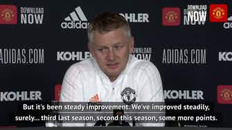 Preview image for Solskjaer insists there's room for improvement at Manchester United
