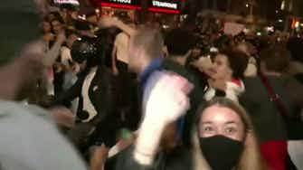 Preview image for Police break up celebrations as England fans take over Piccadilly