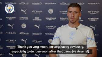 Preview image for Dias 'very happy' after signing new six-year contract with Manchester City