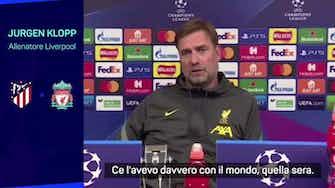 """Anteprima immagine per Klopp ammette: """"Non sono un grande fan dell'Atletico"""""""