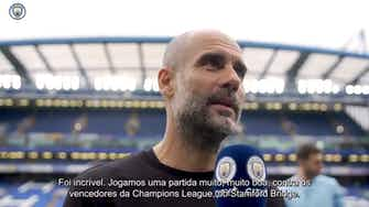 """Imagem de visualização para Guardiola valoriza vitória do City sobre o Chelsea: """"Fomos fantásticos"""""""