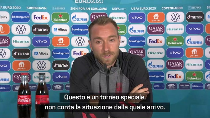 """Inter, Eriksen: """"Non guardo indietro, penso solo all'Europeo"""""""