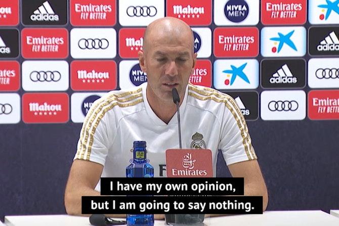 Zidane won't let Real's schedule complaint taint responsibility