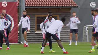 Preview image for Bayern Munich's final preparations before facing Benfica