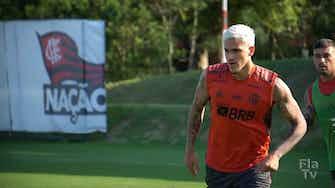 Imagem de visualização para Arrascaeta e Filipe Luís treinam normalmente com grupo do Flamengo