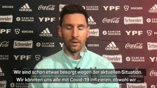 """Vorschaubild für Messi: Titel mit Argentinien """"größter Traum"""""""