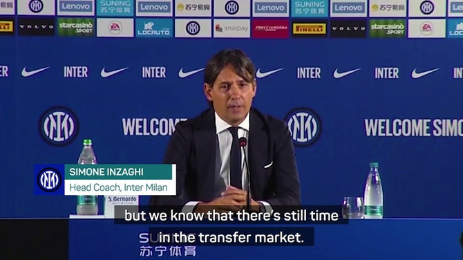 Preview image for FOOTBALL: Serie A: 'Inter will be competitive in the market' - Inzaghi
