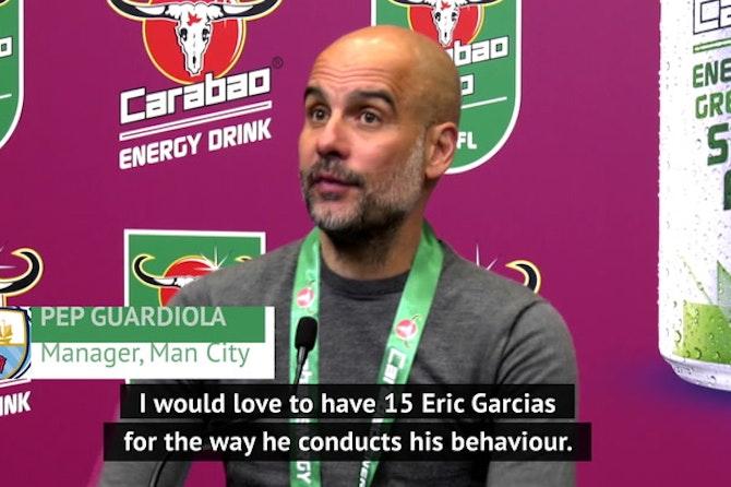 Guardiola hints at Eric Garcia move after EFL Cup triumph