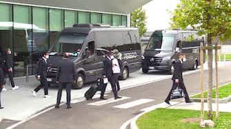 Anteprima immagine per Real Madrid, la squadra è arrivata a Milano