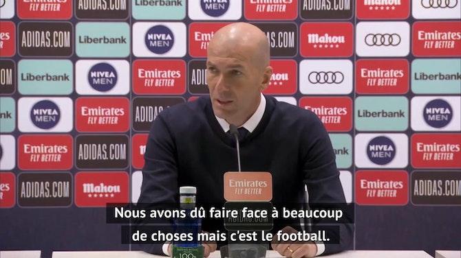 """30e j. - Zidane : """"Nous sommes à la limite physiquement"""""""