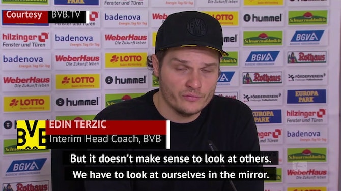 Dortmund have to look in the mirror - Terzic