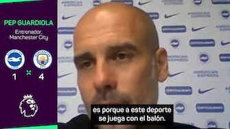 Imagen de vista previa para Guardiola, crítico con su equipo pese a la goleada