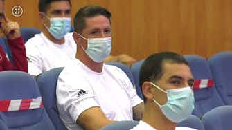 Preview image for Former LaLiga stars Roberto Carlos and Fernando Torres attend coaching course