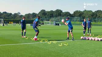 Preview image for Emerson Royal's first training session with Spurs