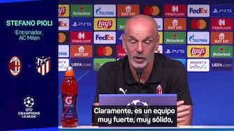 """Imagen de vista previa para Pioli: """"El Atlético todavía está en los primeros puestos de LaLiga"""""""