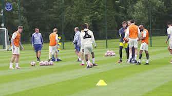Preview image for Rafa Benitez takes Everton training as pre-season begins