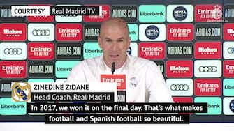 Preview image for LaLiga title race 'what makes Spanish football beautiful' - Zidane