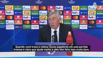 Imagem de visualização para Ancelotti enaltece esforço dos jogadores e explica entrada de Rodrygo