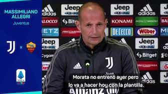 """Imagen de vista previa para Allegri, sobre la vuelta de Morata: """"Depende de lo arriesgado que sea"""""""