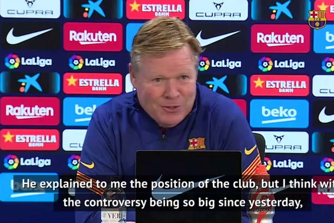 Koeman coy on European Super League