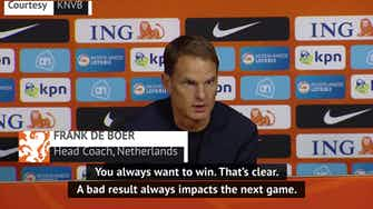 Preview image for De Boer disappointed by Dutch defeat to Mexico