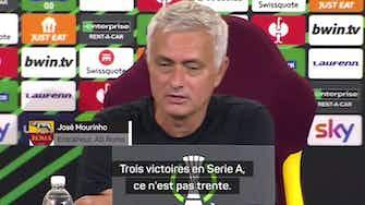 Image d'aperçu pour Roma - Mourinho agacé par un traducteur trop bavard