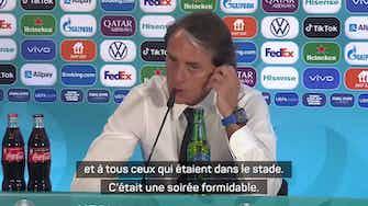 """Image d'aperçu pour Groupe A - Mancini : """"Nous avons donné le sourire aux fans italiens"""""""