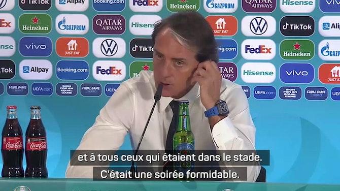"""Groupe A - Mancini : """"Nous avons donné le sourire aux fans italiens"""""""
