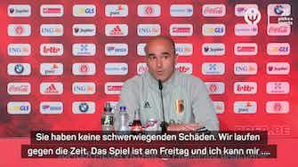 Vorschaubild für Martinez: Hazard und De Bruyne könnten fehlen