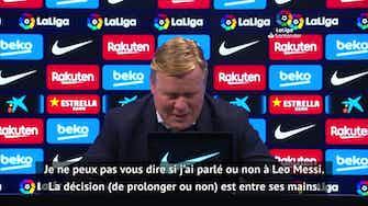 """Image d'aperçu pour 31e j. - Koeman : """"J'espère que Messi restera encore de nombreuses années"""""""