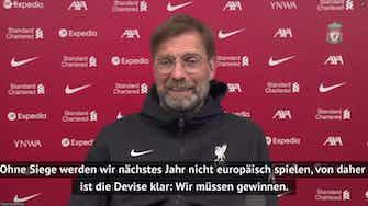 """Vorschaubild für Klopp vor United: """"Wir müssen gewinnen"""""""