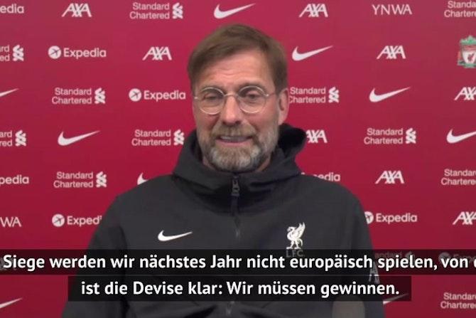 """Klopp vor United: """"Wir müssen gewinnen"""""""