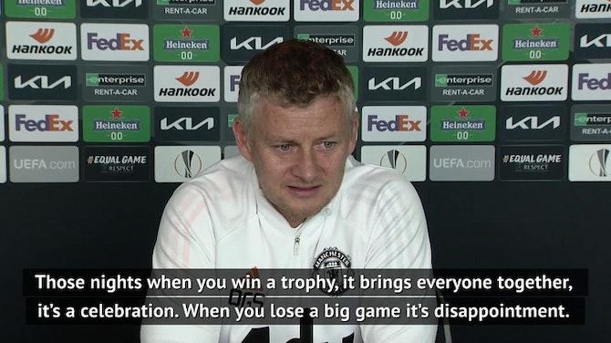 Winning a trophy brings everyone together - Solskjaer