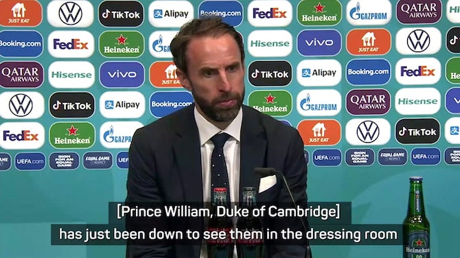 Preview image for Southgate reveals Duke of Cambridge consoled England dressing room after defeat