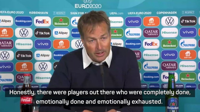 Denmark players played on despite being 'emotionally exhausted' after Eriksen collapse - coach Hjulmand