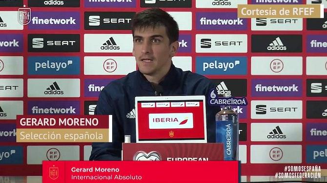 """Gerard Moreno, en titulares: """"Me encuentro en un gran momento"""""""
