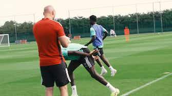 Imagen de vista previa para Bukayo Saka se incorpora a los entrenamientos del Arsenal