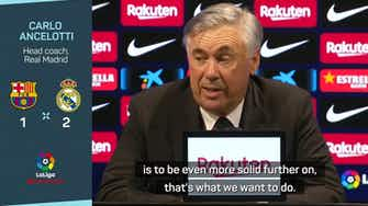 Preview image for Ancelotti pleased to win El Clasico, 'the most important match'