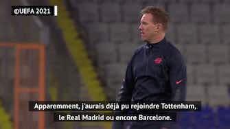 Image d'aperçu pour Leipzig - Nagelsmann réagit aux rumeurs l'envoyant au Barça