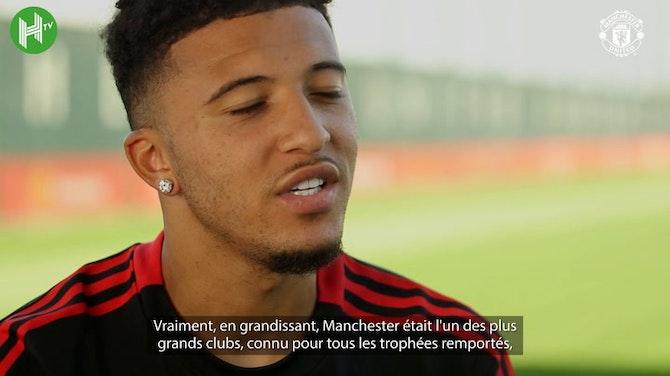 Image d'aperçu pour La première interview de Jadon Sancho avec Manchester United
