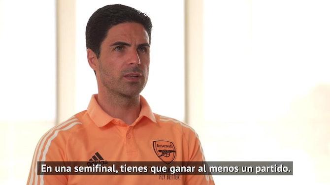 """Arteta: """"No es el resultado que esperábamos, intentaremos pasar a la final"""""""