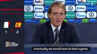 Preview image for Italy will be stronger for their Spain defeat - Mancini