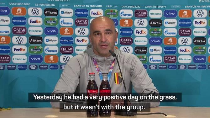 Martinez confirmed De Bruyne will miss Belgium's Euro 2020 opener