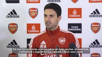 Imagem de visualização para Arteta exalta esforço do Arsenal para contratar Odegaard em definitivo