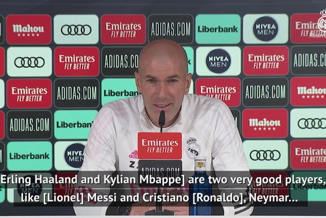 Zidane reveals thoughts on Haaland and Mbappe