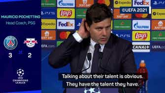 Preview image for Their talent is obvious - Pochettino hails Messi and Mbappe after PSG win