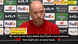 Preview image for Ajax not thinking about unbeaten run - Ten Hag