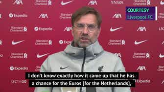 Preview image for  Klopp pleased with Van Dijk's decision to skip Euros