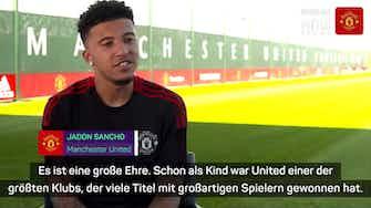 """Vorschaubild für Sancho will mit United """"Titel gewinnen"""""""